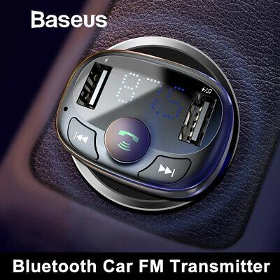 Baseus Bluetooth Car USB Charger FM Transmitter Wireless MP3 Radio Adapter 3.4A