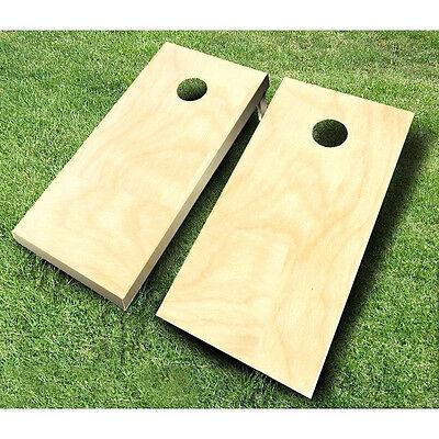 Plain Unfinished CORNHOLE BOARDS SET Bean Bag Toss + 8 ACA Regulation Bags ()