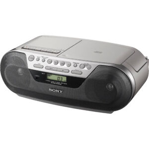 Sony CFD-S05 CD Radio Cassette Recorder Boombox Speaker System