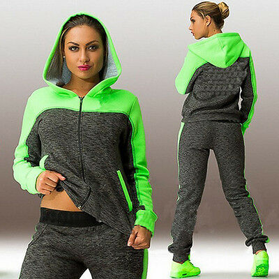 Damen Trainingsanzug Kapuze Hoodies Pullover Hosen Jogginganzug Sportanzug Mode