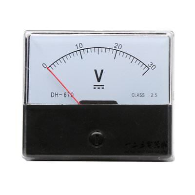 1pc Dc Analog Meter Panel Voltmeter Voltage Meter Dh-670 0-30v Gauge