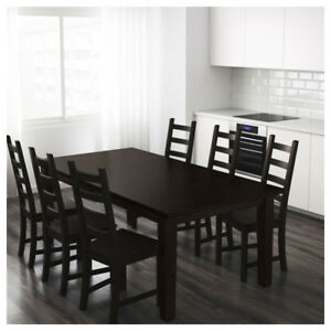 IKEA Stornas Extendable Table + 8 IKEA Stefan Chairs