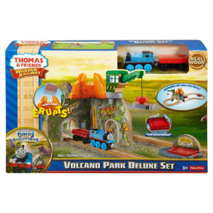 Thomas Wooden Railway Set, Volcano Park Deluxe - NEW