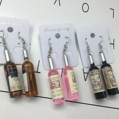 Wine Bottle Earrings Dangle Jewelry Women Hook Ear Drop Stud Fashion - Wine Bottle Jewelry