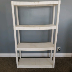 Lightweight 4 shelf unit.