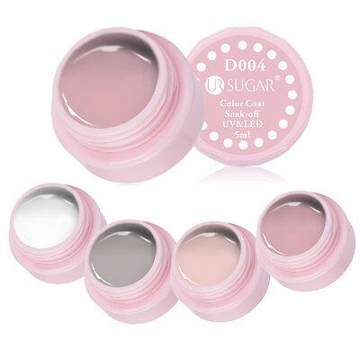 4 Colors Nude White LED UV Gel Nail Art Polish Paint Acrylic Tips Decoration