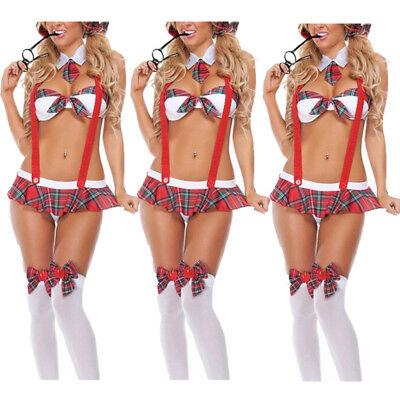 Sexy Lingerie Set School Girl Student Adult Cosplay Fancy Dress Uniform Costume (Adult School Girl Costumes)