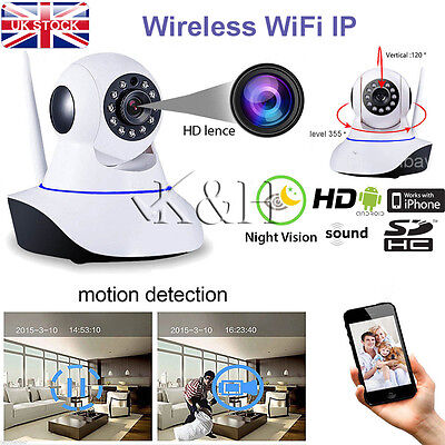 HD 720P Wireless Pan Tilt WiFi IP Camera Home Shop Security CCTV IR Night Vision for sale  Shipping to Ireland