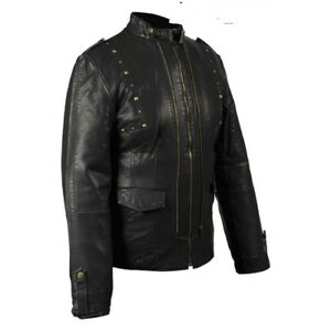 Women's Black Soft Jacket With Studs On Front & Back
