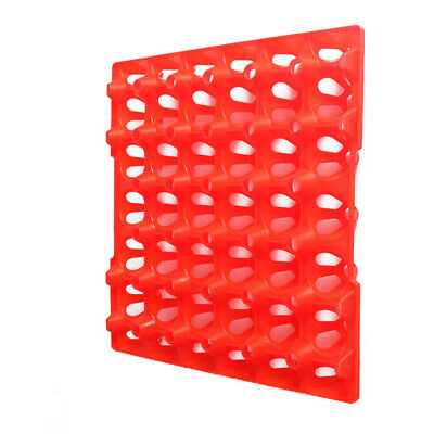 Red Egg Trays 30 Incubator Chicken Duck Breeders Stackable Hatching Storage Tool