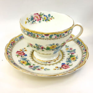 Pretty hand-painted Ansley Cup and Saucer, signed