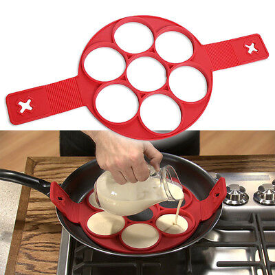 Egg Mold - Nonstick Pancake Cooking Tool Egg Ring Maker Cheese Egg Cooker Pan Flip Egg Mold