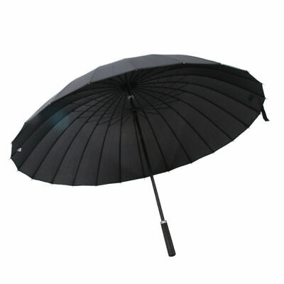 Ombrello da viaggio nero Grande Stabile Ombrello Stick Ombrello da golf XXL
