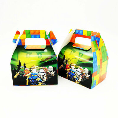 6pcs/lot Candy Box Cake Box for Kids Ninjago Theme Party Baby Party Decoration