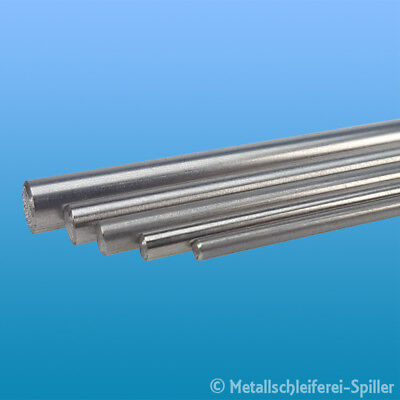 Bild von Edelstahl Rundstahl 4mm L: 300 - 1600 mm blank Stab Welle 1.4301 V2A