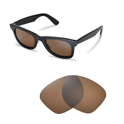 New Walleva Polarized Brown Replacement Lenses For Ray-Ban Wayfarer RB2140 (Wayfarer Rb2140 Replacement Lenses)