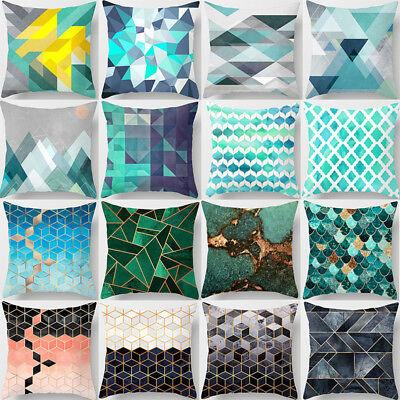 Print Decorative Throw Pillow - Geometric Printed Polyester Throw Pillow Case Sofa Cushion Cover Home Decor Gift