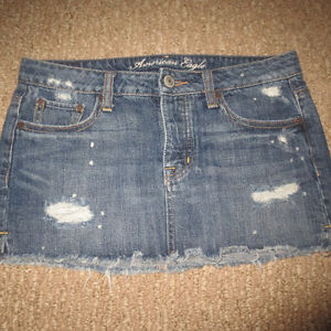 AE JEAN SKIRTS SIZE 0
