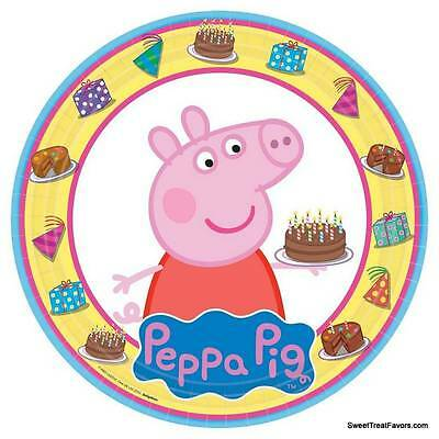 PEPPA PIG Party FAVOR Birthday Plates Lunch Decoration Dessert Supplies Piggy x8 (Peppa Pig Birthday Plates)