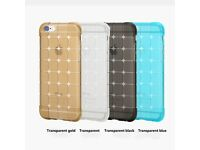 iPhone 6+ 6S+ Case High Drop Resistance Cover Protect Camera Silicon Case Gold colour new