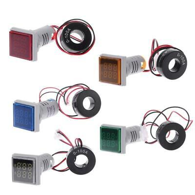22mm Led Digital Voltmeter Ammeter Volt Voltage Current Meter Ac 60-500v 0-100a
