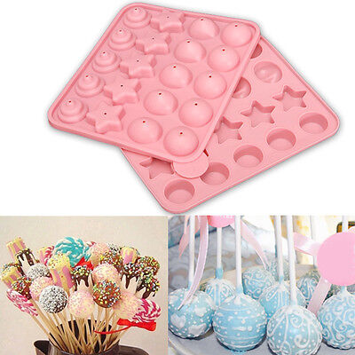 Silicone Cake Chocolate Lollipop Pop Mould Mold Tray