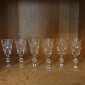 Vintage Cut Crystal Glasses Cream Sugar Pinwheel Stunning Set 18 Kitchener / Waterloo Kitchener Area image 3