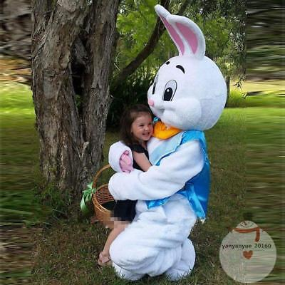 2019 Easter Bunny Rabbit Mascot Costume Cartoon Christmas Fancy Dress Adult Size (Costume Rabbit)