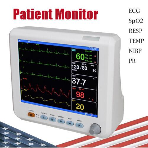 Pro Multi-parameter ICU Patient Monitor Vital Signs ECG NIBP RESP TEMP SPO2 PR