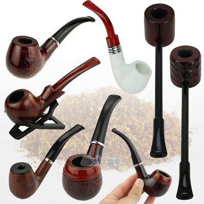 Collectible Durable Wooden Wood Smoking Pipe Tobacco Cigarettes Cigar Pipes Gift