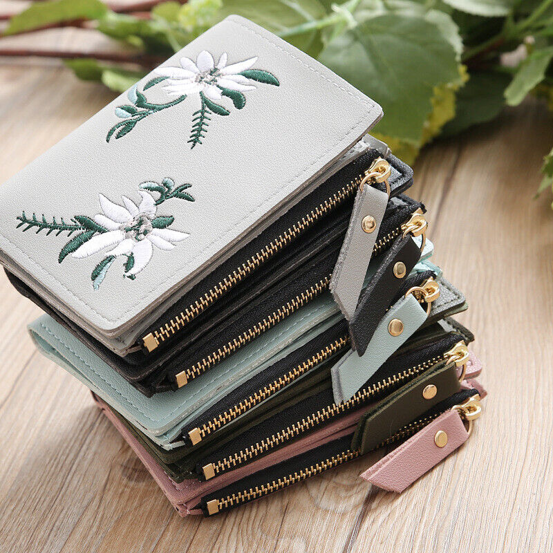 Women Small Clutch Leather Mini Wallet Photo Credit ID Card Holder Purse Handbag Clothing, Shoes & Accessories