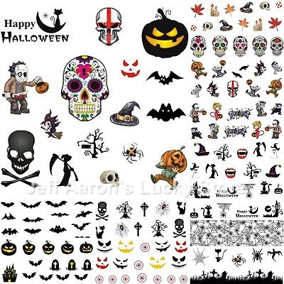 12 sheets manicure Halloween water transfer nail art decoration stickers decals - Manicure Halloween