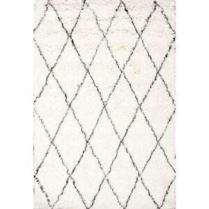 Varick Gallery Off White Brown Wool Area Rug New 5x7