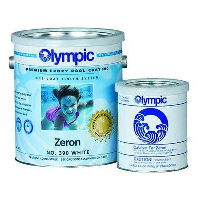 (1 Gallon Olympic Premium Epoxy Pool Coating Zeron No. 395 Blue Mist W/ Catalyst)