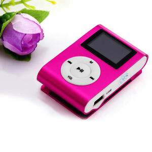 MP3 Player, Clip-On - Hot Pink