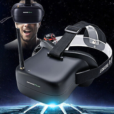 Eachine VR-007 Pro VR007 40CH FPV Goggles 4.3 Inch Video Headset W/ Battery