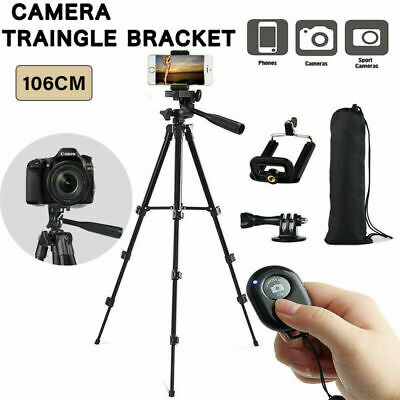 Stretchable Tripod Stand For Digital Camera iPhone Samsung Sony + Remote Bag UK