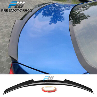 (Fits 07-13 BMW 3-Series E92 M4 Style CF Rear Trunk Spoiler Lip Wing)