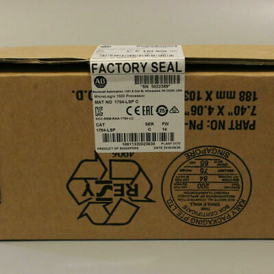 New Factory Sealed Ab 1764-lsp C Micrologix 1500 Processor Module 1764lsp