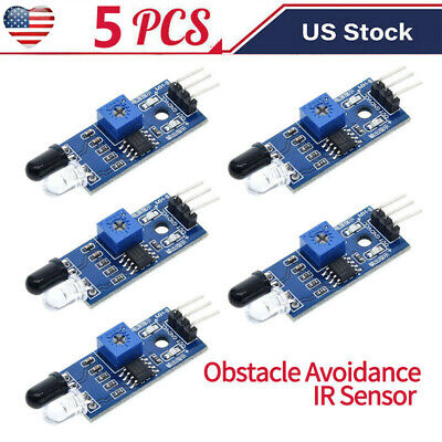 5 Pcs Ir Infrared Obstacle Avoidance Sensor Module For Arduino Raspberry Pi
