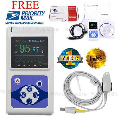 Us Seller Handheld Spo2 Pulse Oximeter Oledalarmpc Software Fda Ce Sale