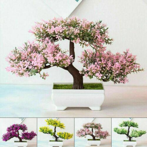 Home Decoration - Bonsai Simulation Artificial Pot Plant Home Office Fake Pine Tree Decor Durable