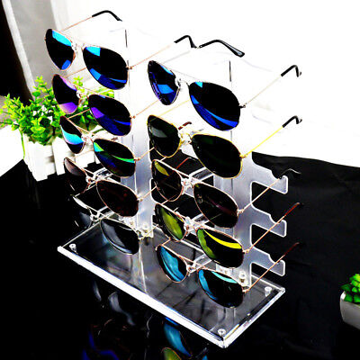 Sunglasses Rack Sunglasses Holder Glasses Frame Stand Count Display Show 10 Pair