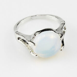 OPAL GEMSTONE FASHION NEW JEWELRY 925 SILVER PLATED WOMEN RING