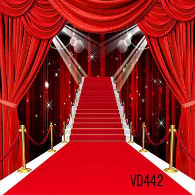 10x10FT Hollywood Red Carpet Vinyl Studio Backdrop Photography Photo - Hollywood Red Carpet Backdrop