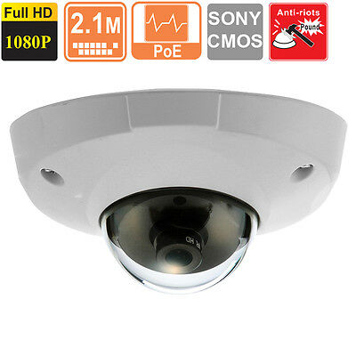 2 Mp Cmos Mini - Low Lux  Mini  Dome IP Security Camera 3.6 mm HD 1080p  2 MP SONY CMOS  POE