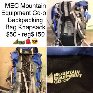 MEC Mountain Equipment Co-op Backpack Knapsack Bag $50 reg$150