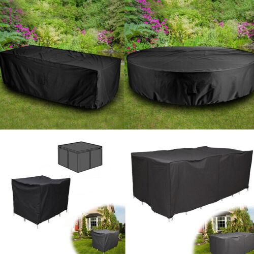 Schutzhüllen Gartenmöbel Abdeckung 6-10 Sitzer Rattan Kubus Tischset Schutzplane