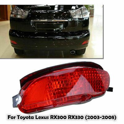 Red Passenger Right Rear Marker Bumper Reflector Light For Lexus RX330 2004-2009