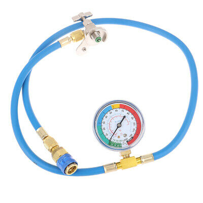 1.5m R134a AC HVAC Recharge Measuring Refrigerant Hose Can Tap with Gauge SyHFUK